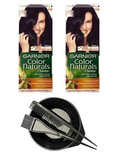 Garnier Garnier Color Naturals Saç Boyası Gece Si Kadın 110 X + Saç Boyama Seti Renksiz